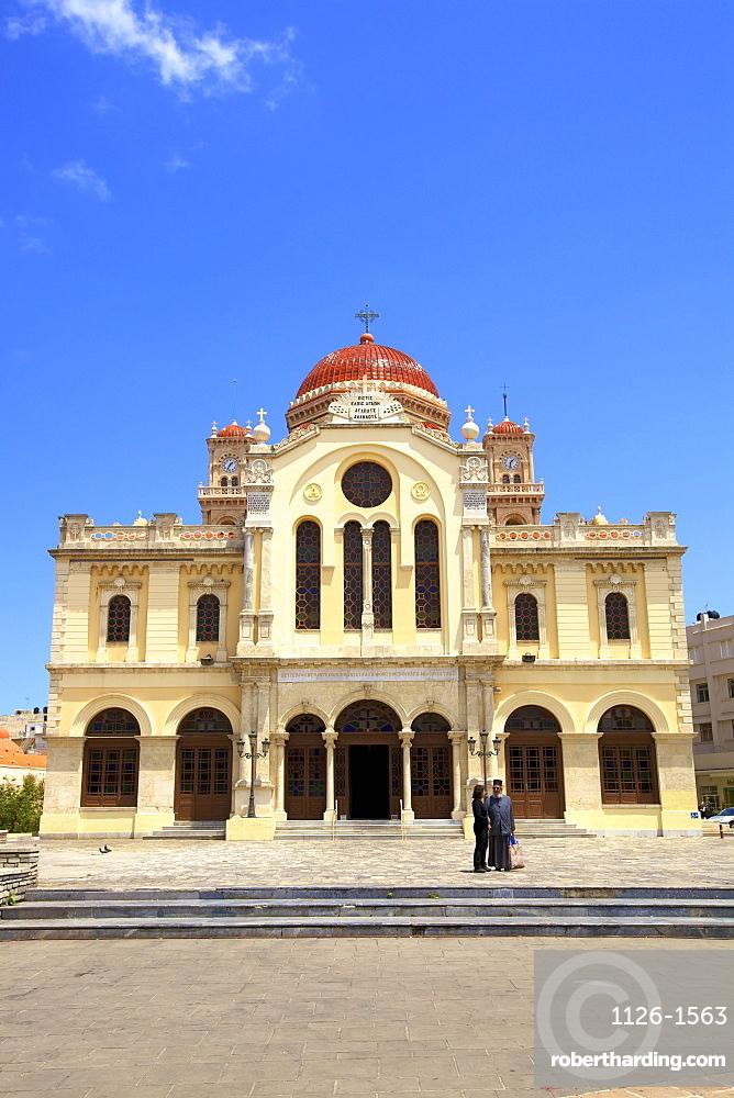 The Metropolitan Church of Agios Minas, Heraklion, Crete, Greek Islands, Greece, Europe