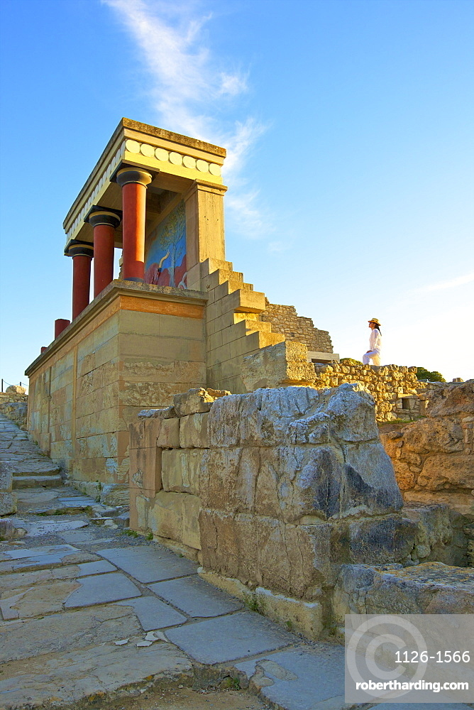 The Minoan Palace of Knossos, Knossos, Heraklion, Crete, Greek Islands, Greece, Europe