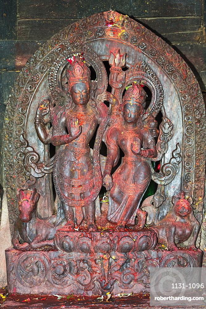 Uma Maheshwar Temple, Temple deity statue, Kirtipur, Nepal