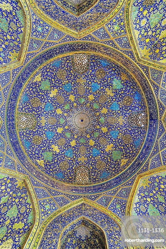 Iwan, Dome, Masjed-e Imam Mosque, Maydam-e Iman square, Esfahan, Iran