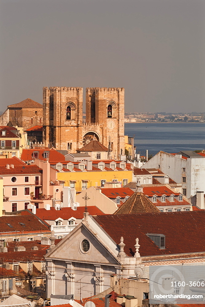 Se Cathedral at sunset, Alfama, Lisbon, Portugal