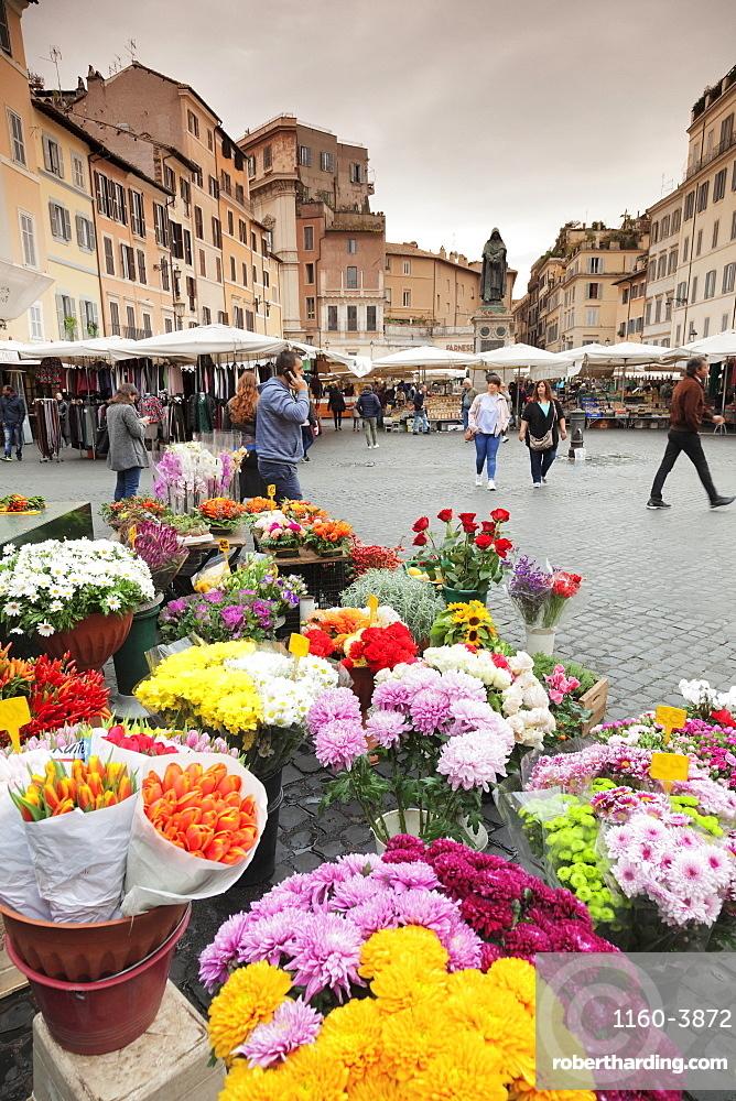 Market on Campo de Fiori Square, Rome, Lazio, Italy
