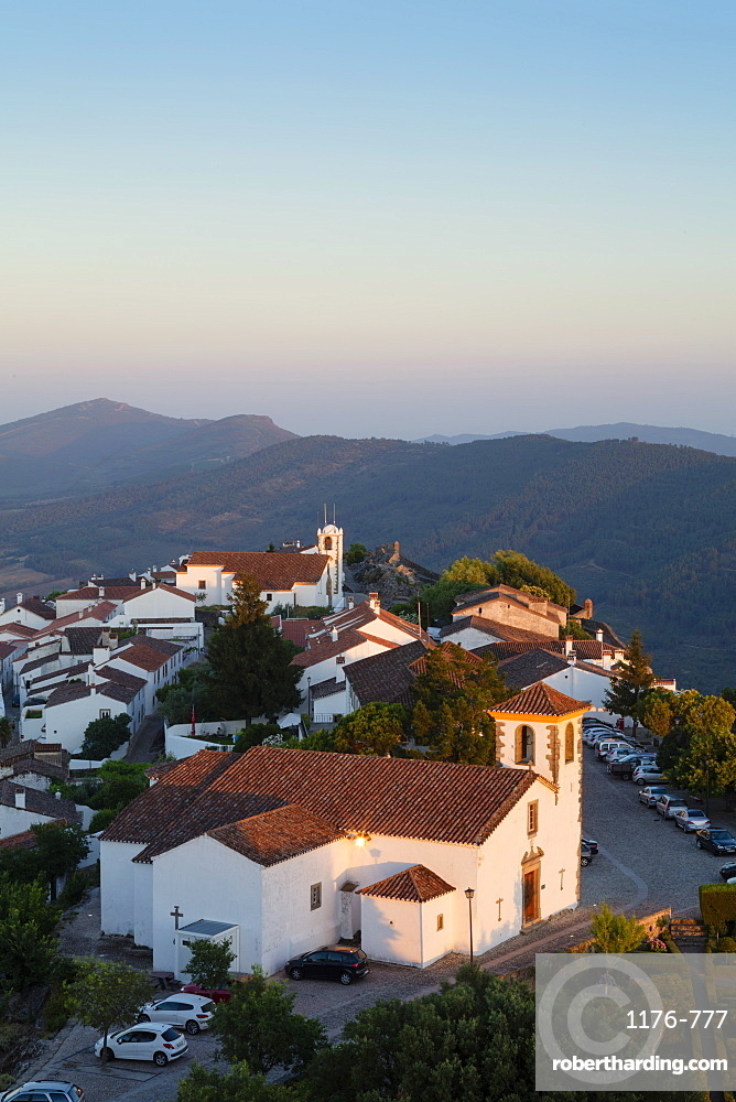 Marvao, a dramatic Portuguese medieval hill-top village in the Alentejo region bordering Spain, Portugal, Europe