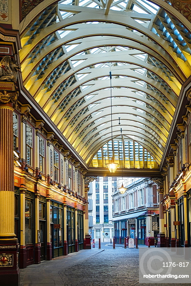 Leadenhall Market by Victorian architect Horace Jones, London, England, United Kingdom, Europe