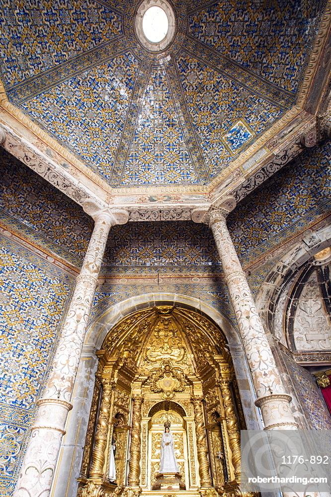 Interior of the church of the Dominican Convent (Convento das Freiras de Sao Domingos), UNESCO World Heritage Site, Elvas, Alentejo, Portugal, Europe