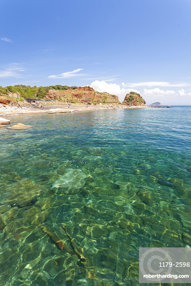 Turquoise sea, Cala Seregola, Capo Pero, Elba Island, Livorno Province, Tuscany, Italy, Europe