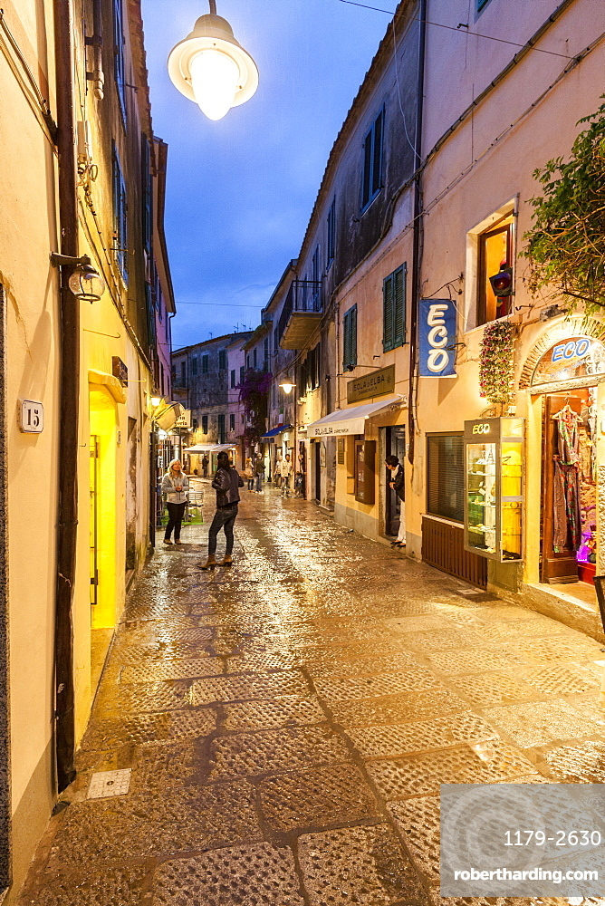Shops in the old town, Capoliveri, Elba Island, Livorno Province, Tuscany, Italy, Europe