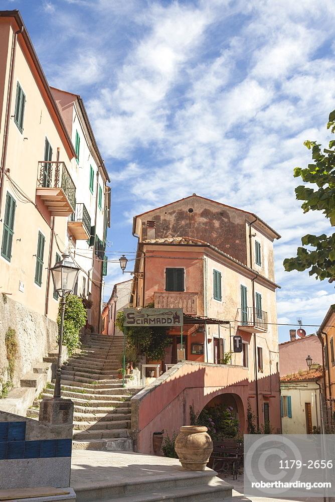 Old part of the village of Poggio, Marciana, Elba Island, Livorno Province, Tuscany, Italy, Europe