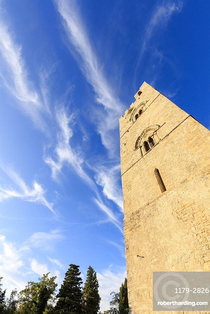 Torre Campanaria, Erice, province of Trapani, Sicily, Italy, Europe