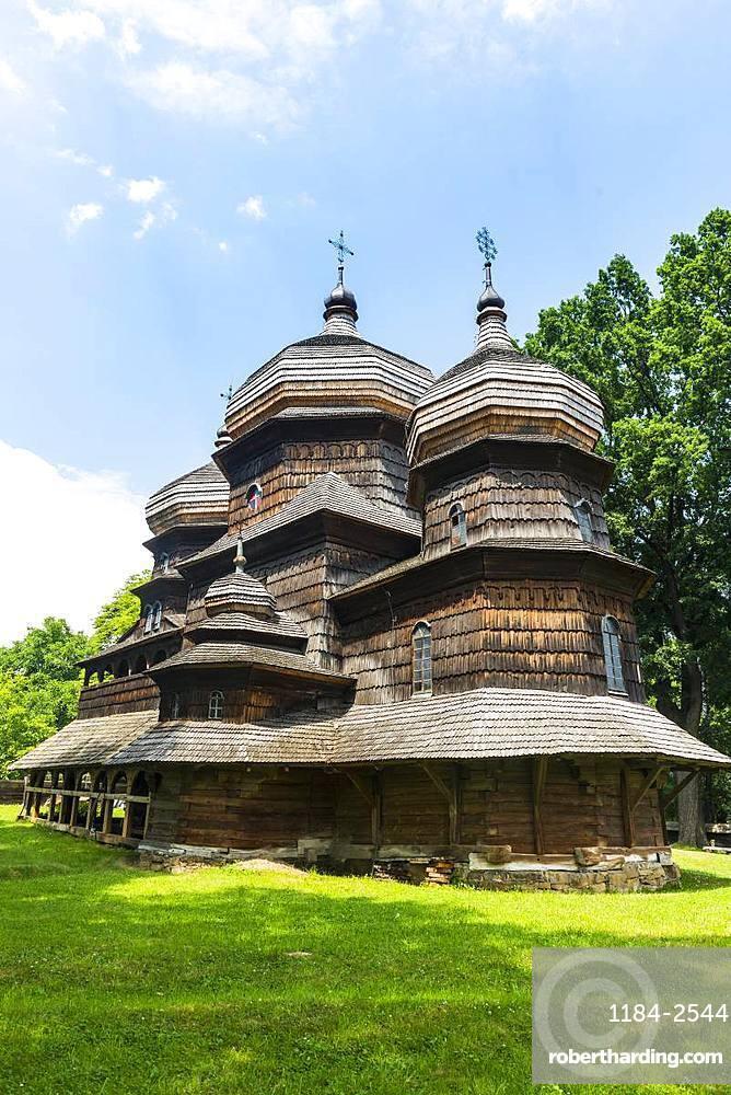 The wooden St. George's Church, UNESCO World Heritage Site, Drohobych, Ukraine, Europe