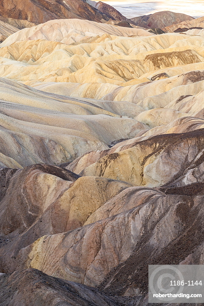 Zabriskie Point in Death Valley National Park, California, United States of America, North America