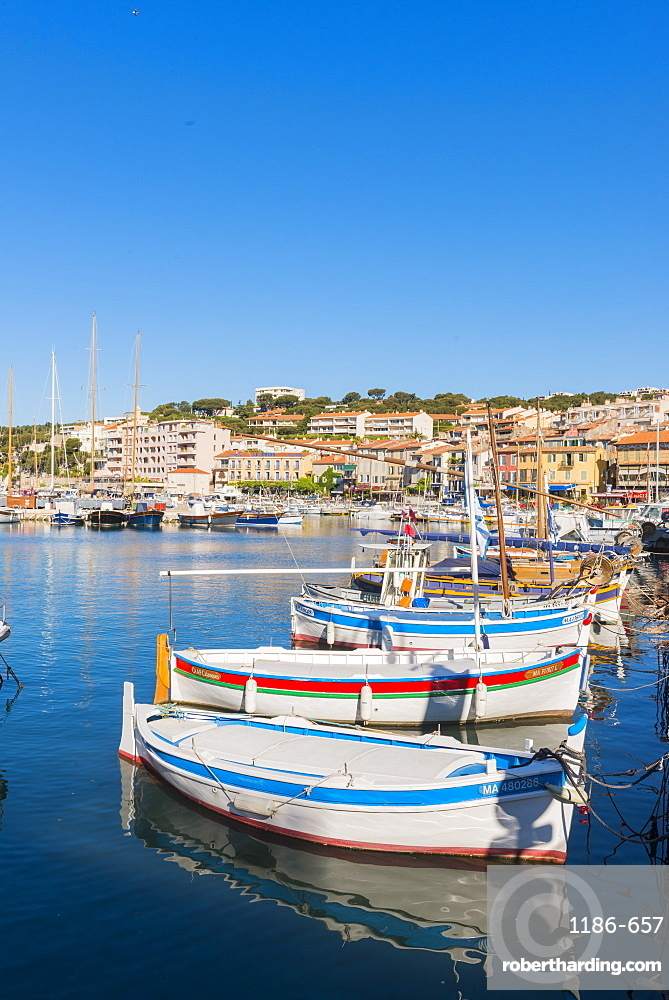 Boats in Cassis harbour, Provence, France