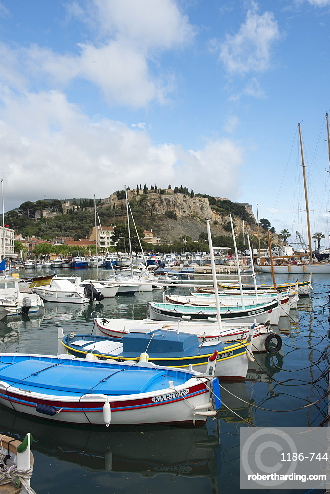 Boats in Cassis harbour, Bouches du Rhone, France