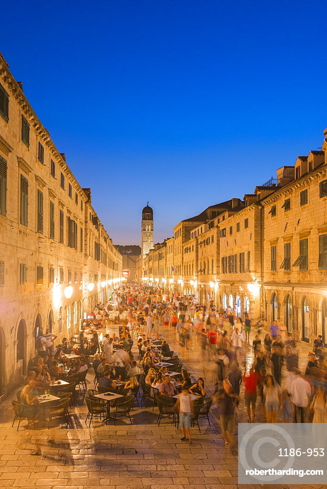 Evening in the old town, UNESCO World Heritage Site, Dubrovnik, Croatia, Europe