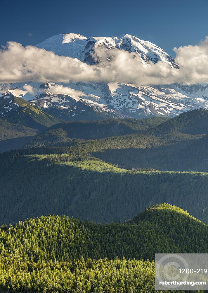 View of Mount Rainier, Washington State, United States of America, North America