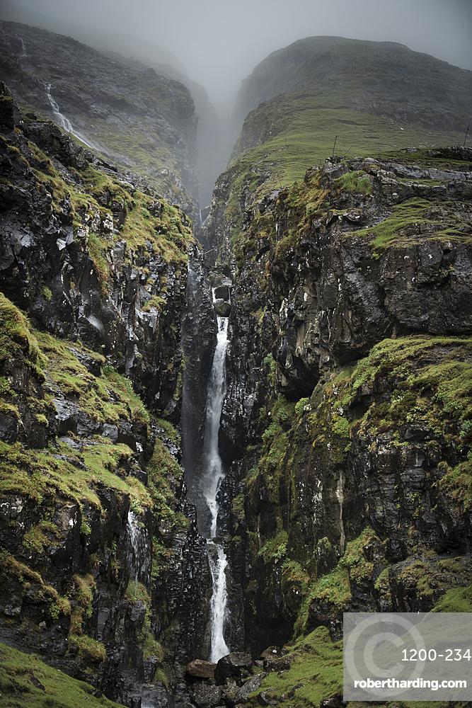 Waterfall, Faroe Islands, Denmark, Atlantic, Europe