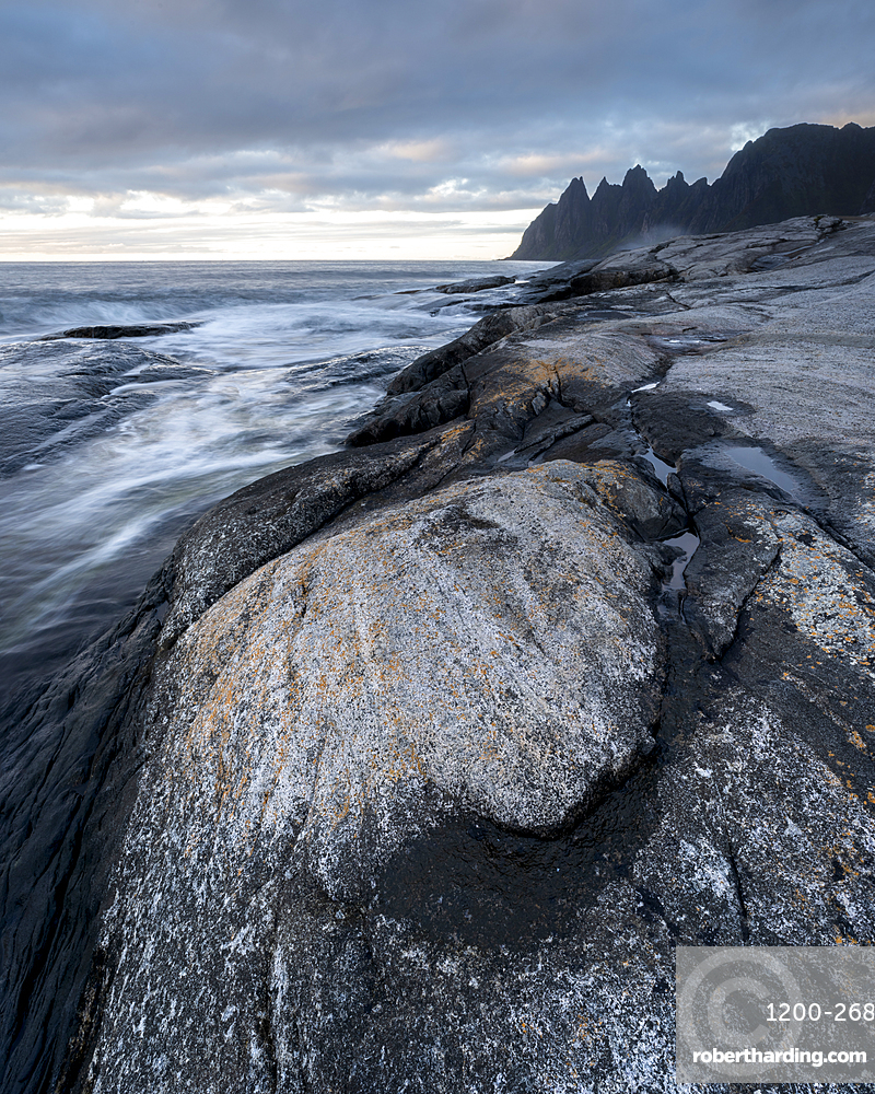Rock formations, Tungeneset, Senja, Norway.