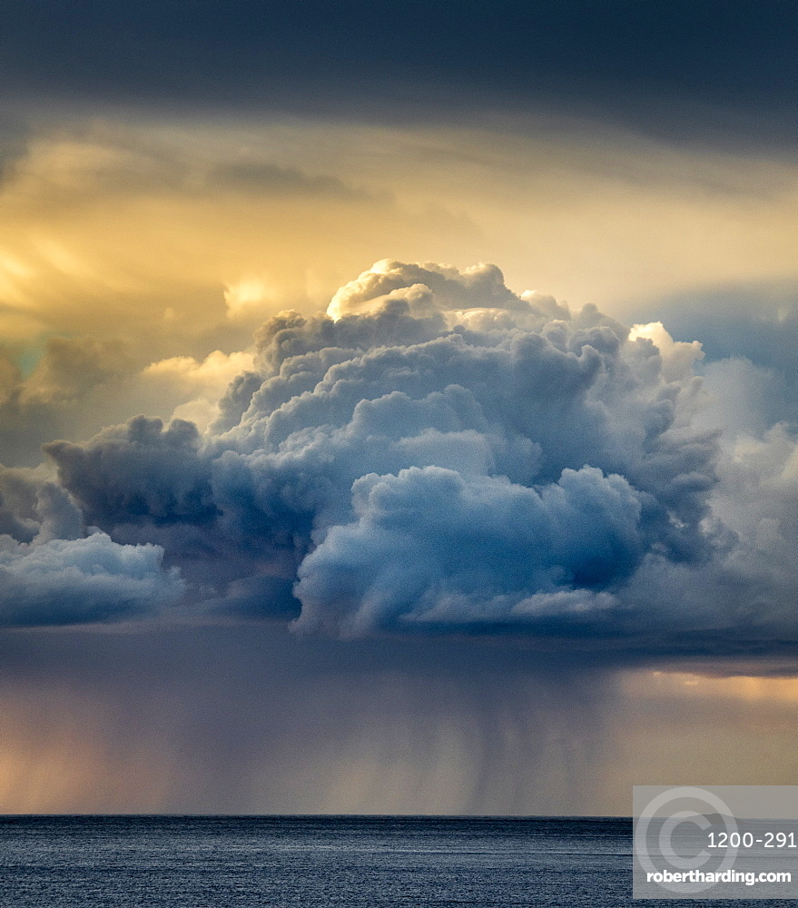 Rain cloud, Senja, Norway, Scandinavia, Europe
