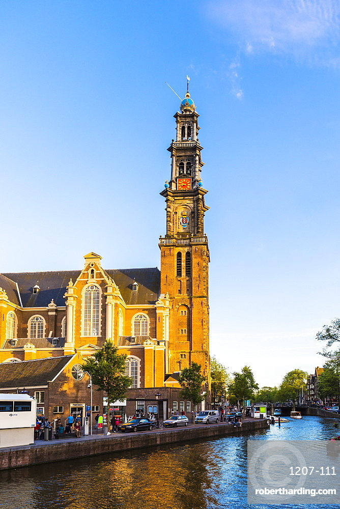 Prinsengracht canal and Westerkerk, Amsterdam, Netherlands