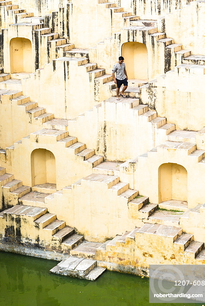 A step well near Kheri Gate, Jaipur, Rajasthan, India, Asia,