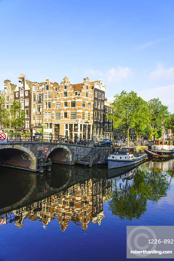 Old gabled buildings on Brouwersgracht canal, Amsterdam, Netherlands