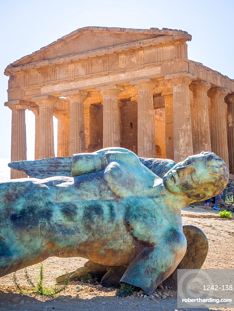 Greek ruins of Agrigento, UNESCO World Heritage Site, Sicily, Italy, Europe
