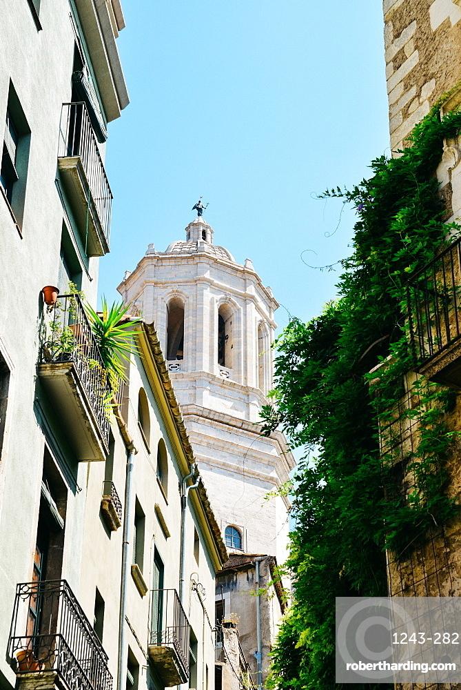 Girona Cathedral (Cathedral of Saint Mary of Girona), a Roman Catholic church, Girona, Catalonia, Spain, Europe