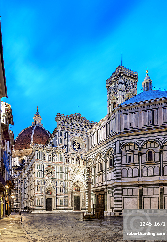 Santa Maria del Fiore Cathedral at dawn, Florence, UNESCO World Heritage Site, Tuscany, Italy, Europe