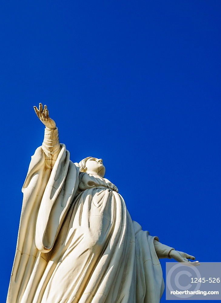 Virgin Mary Statue, San Cristobal Hill, Santiago, Chile, South America