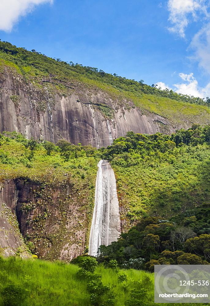 Santa Teresa Waterfall, Banquete, Bom Jardim Municipality, State of Rio de Janeiro, Brazil, South America