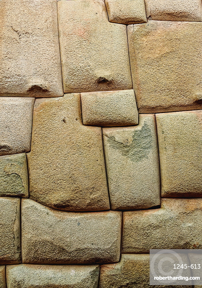 Inca stonework, Hatunrumiyoc Street, UNESCO World Heritage Site, Cusco, Peru, South America