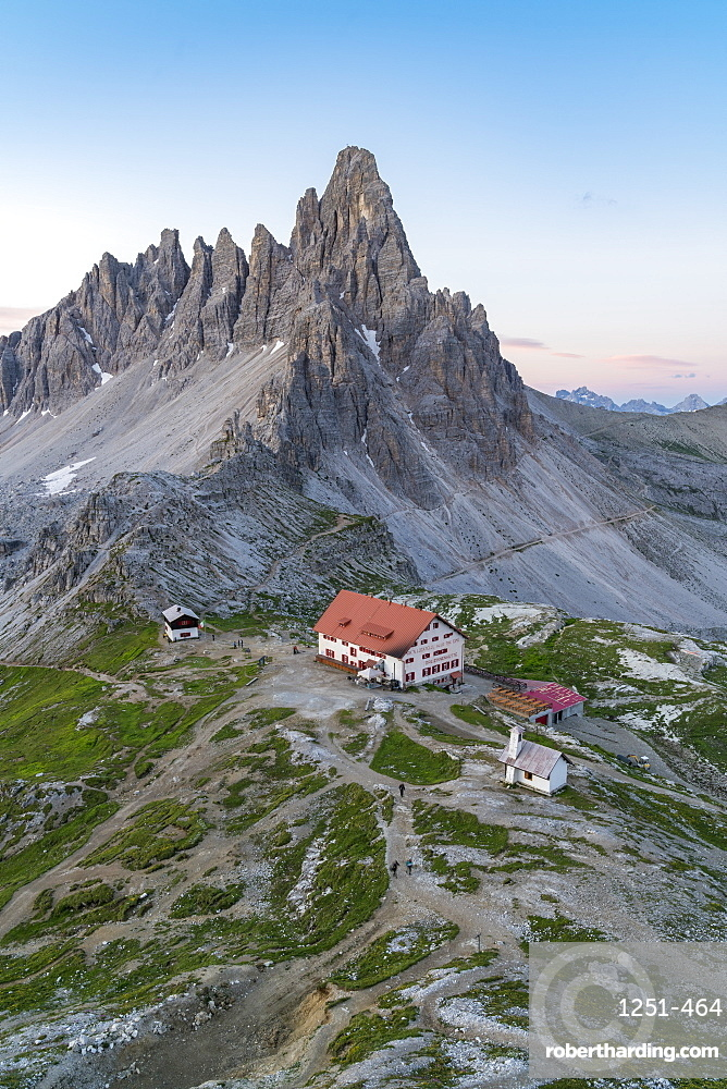 Dreizinnen hut by Mount Paterno in Italy, Europe
