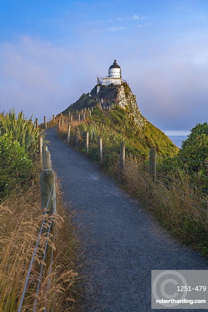 Nugget Point lighthouse. Ahuriri Flat, Clutha district, Otago region, South Island, New Zealand.