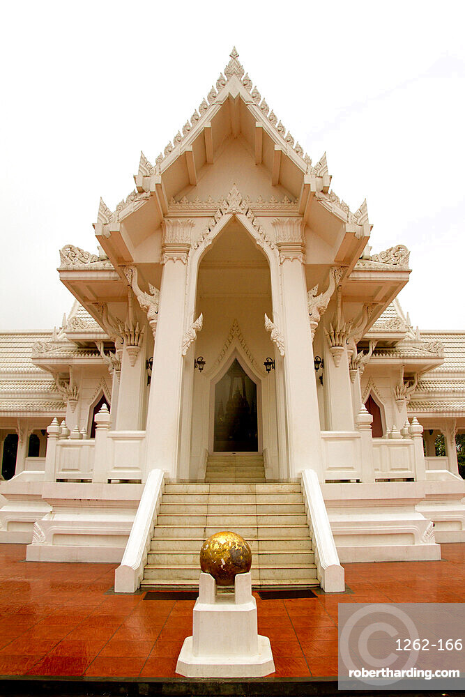 An ornate Buddhist temple in the grounds of Buddha's birth place, Lumbini, Nepal, Asia