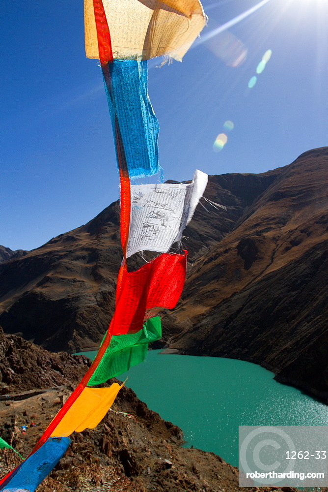 Yamdrok Lake, Southern Tibet, Tibet, China, Asia