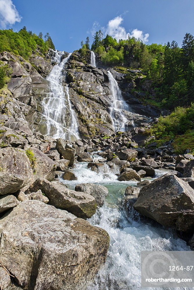 Nardis Waterfalls, Genova Valley, Trentino, Italy, Europe