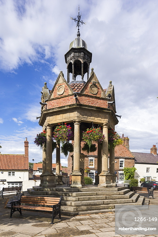 Band stand in the village of Boroughbridge, North Yorkshire, UK