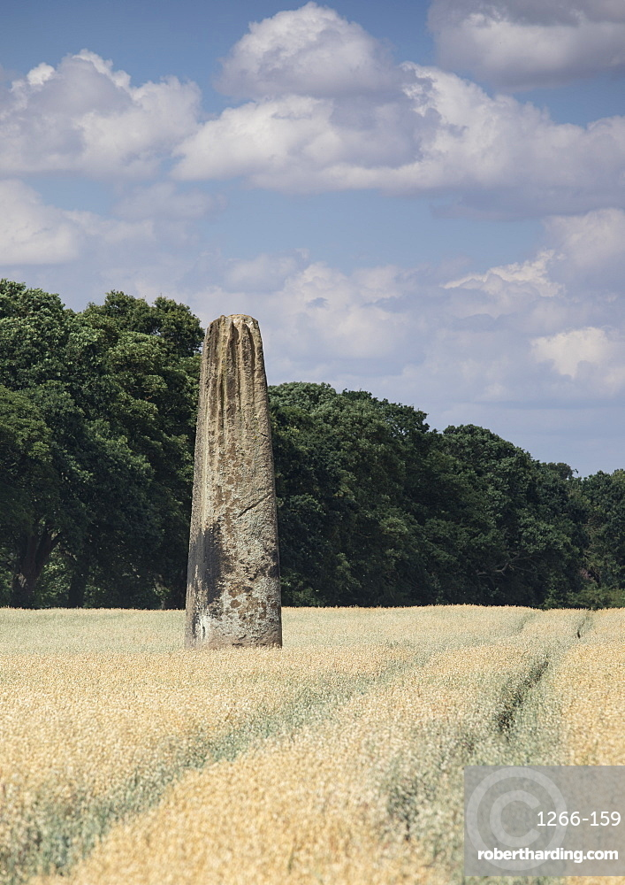 The Devils Arrows, a series of Neolithic standing Stones near Boroughbridge, North Yorkshire, UK