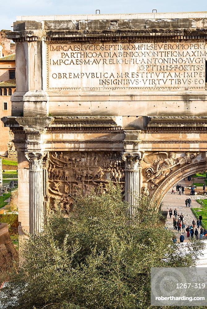 Arch of Septimus Severus in the Roman Forum, UNESCO World Heritage Site, Rome, Lazio, Italy, Europe