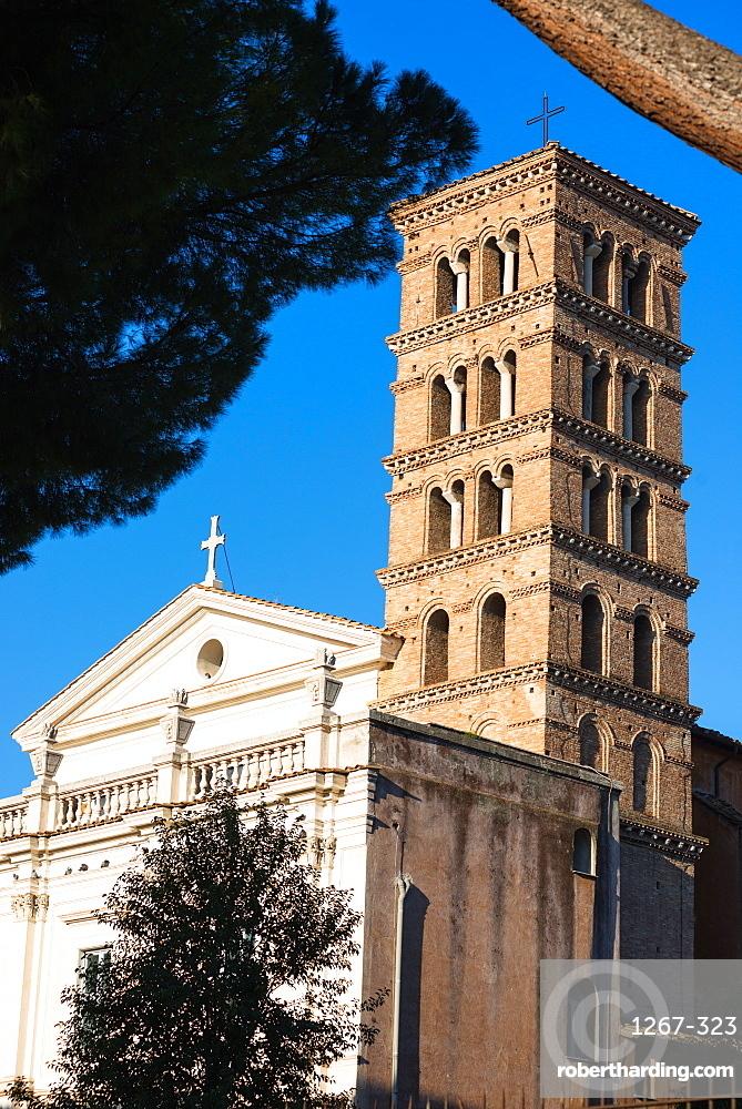 The Basilica dei Santi Bonifacio e Alessio, a basilica, rectory church and titular church on Aventine Hill, Rome, Lazio, Italy, Europe