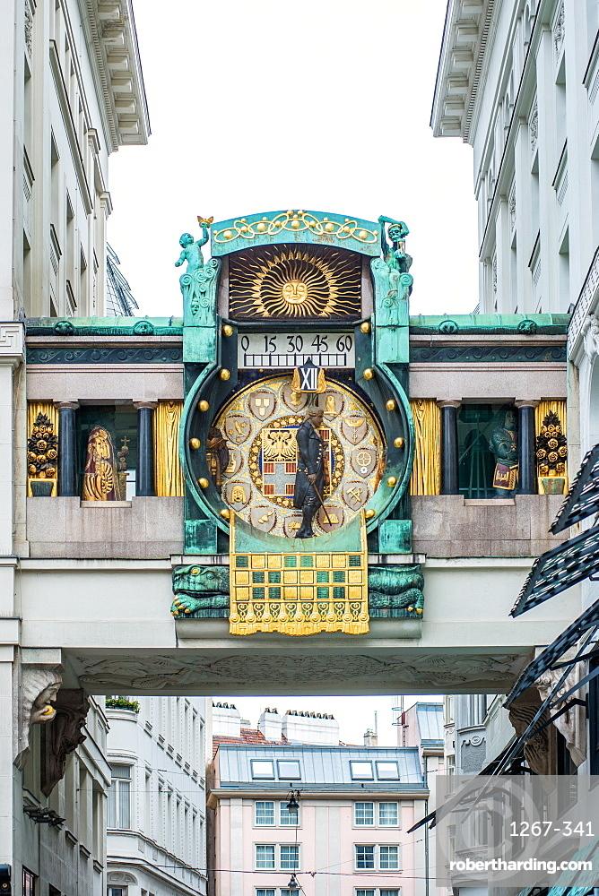Ankeruhr (Anker clock) at Hohen Markt square, Vienna, Austria, Europe