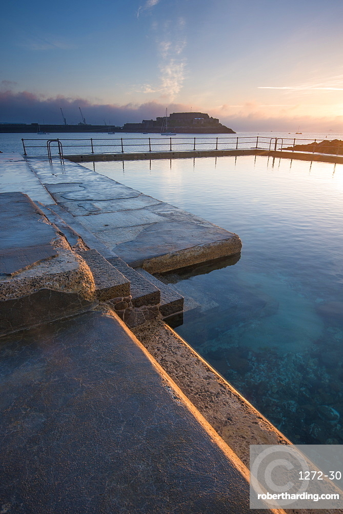 The Bathing Pools at La Vallette, St. Peters Port, guernsey