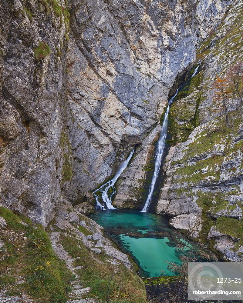 Slap Savica, or Savica Falls, Triglav National Park, Slovenia