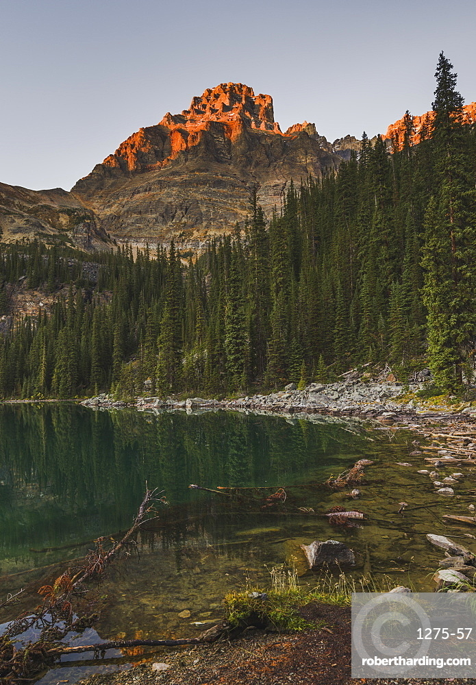 Lake O'Hara at sunset, Yoho National Park, Canada