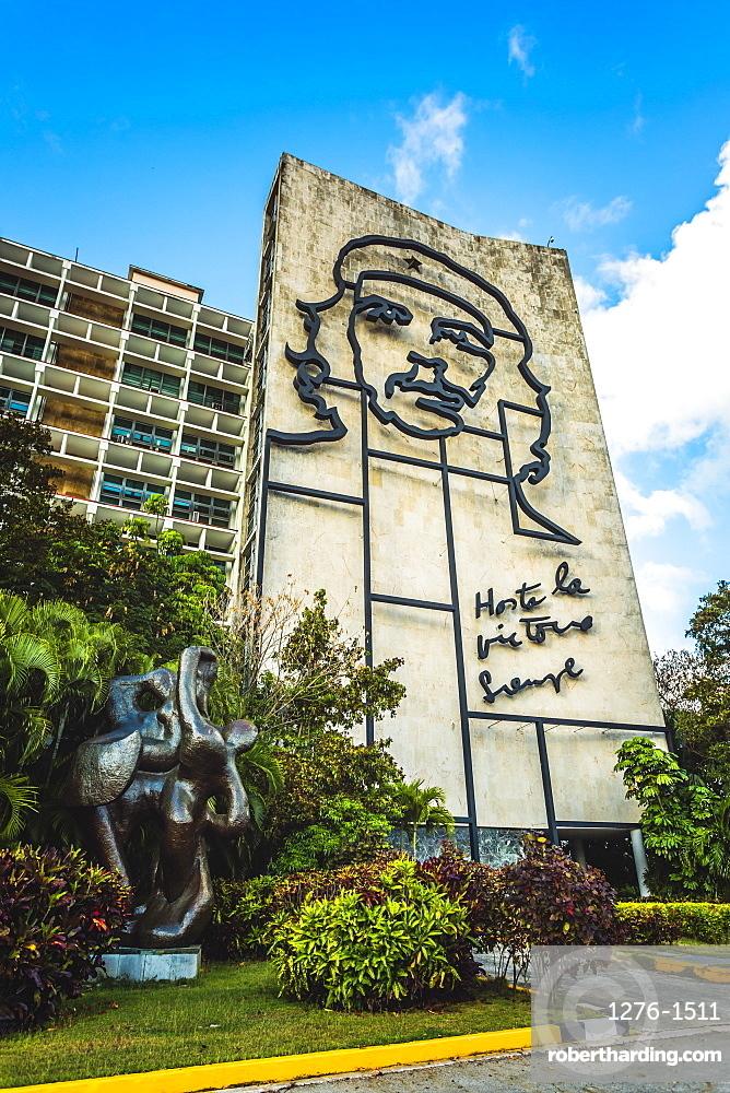 La plaza de la revolucion with Che Guevara, La Habana, Havana, Cuba, West Indies, Caribbean, Central America