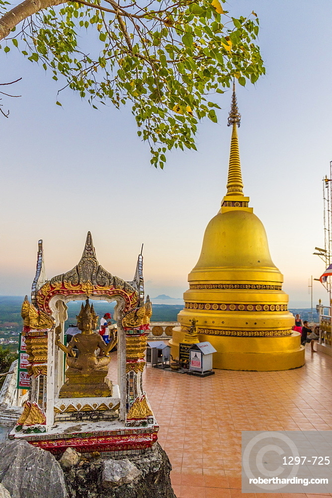 The top of the Tiger cave temple in Krabi, Thailand, Southeast Asia, Asia.