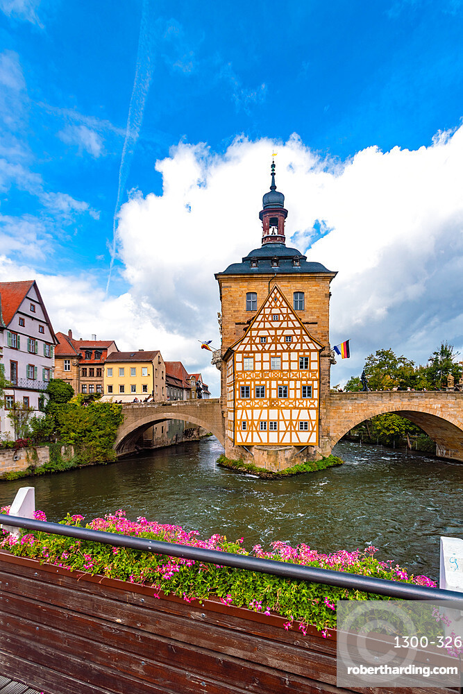 Altes Rathaus (old townhall) at the historic center of Bamberg, UNESCO World Heritage Site, Bavaria, Germany, Europe