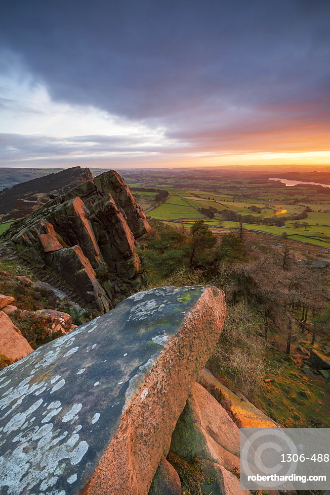 Gritstone formations at The Roaches, Peak District National Park, Staffordshire