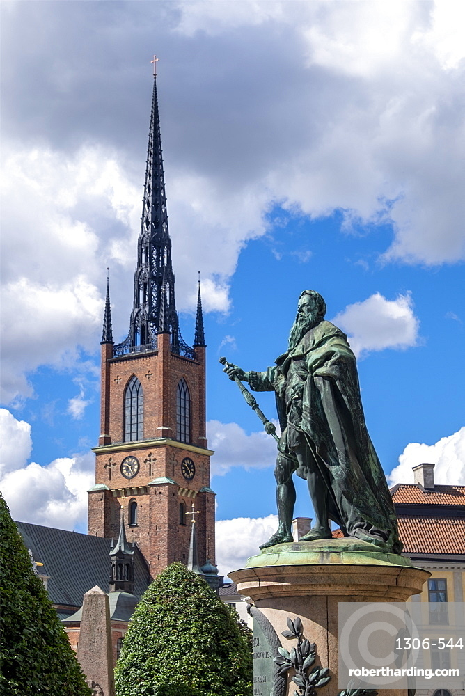 The Riddarholm Church is the burial church of the Swedish monarchs, Stockholm, Sweden, Scandinavia, Europe
