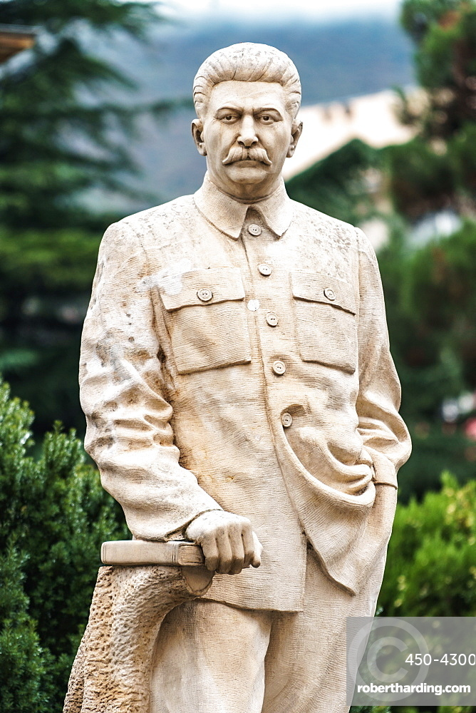 One of the few remaining standing statues of Stalin in public, Gori, his birthplace, Central Georgia, Central Asia, Asia